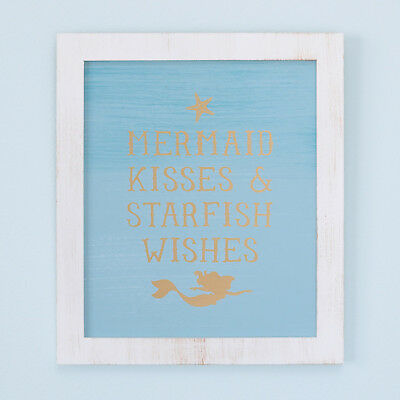 Disney Baby Little Ariel Sea Princess Mermaid Kisses and Starfish Wishes Framed