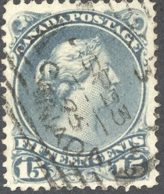 VF Used 15¢ Blue Grey Large Queen #30i Dated SP 33 / (18)95