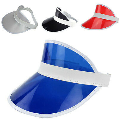 PVC Women Shade Cap Empty Top Chapeau Sunscreen Hat Beach Hats Sun Visor  Caps 57d35553fbef