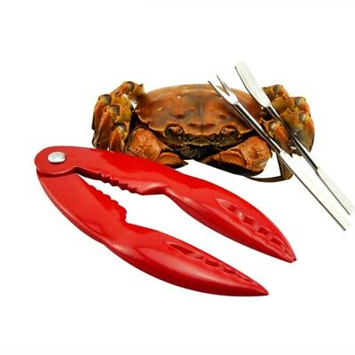 Lobster Cracker Tools Red Stainless Steel Seafood Crab Claw Eating Ware Set Gift
