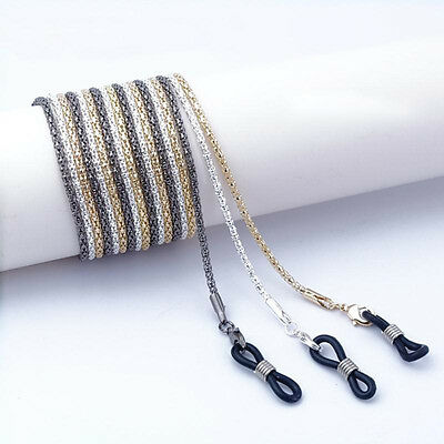 Alloy Eyeglass Reading Spectacles Sunglasses Glasses Cord Holder Necklace Chain~
