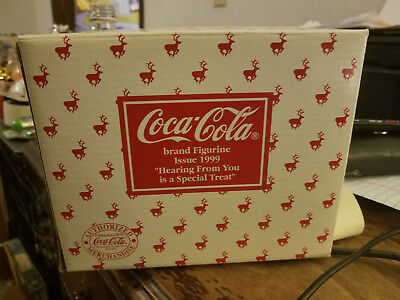 """COCA-COLA brand FIGURINE ISSUE 1999 """"HEARING FROM YOU is a SPECIAL TREAT"""""""