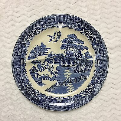 Blue Willow Antique Divided Grill Dinner Plate Made In England
