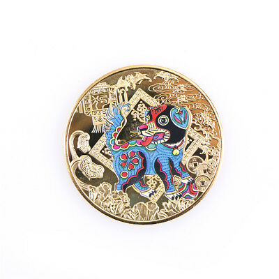 year of the dog golden chinese zodiac anniversary coins tourism gift  arrivalXC