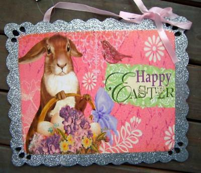 Rabbit French Country Vintage Style Happy Easter Bunny Shabby Decor