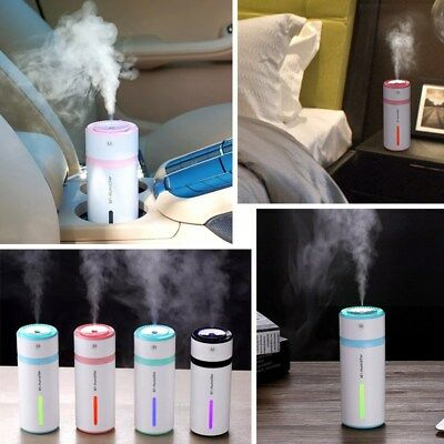 USB Ultrasonic Home Office Car Humidifier Air Diffuser LED Purifier Atomizer USA