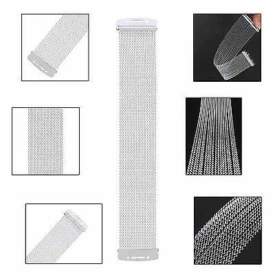 """20 pcs Steel Coiled Snare Wire Spring For 14"""" Snare Drum Cajons Silver"""