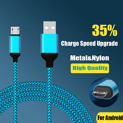 3M Fast Charging Metal Heavy Duty Braided Micro USB Data Sync Charger Cable j-c