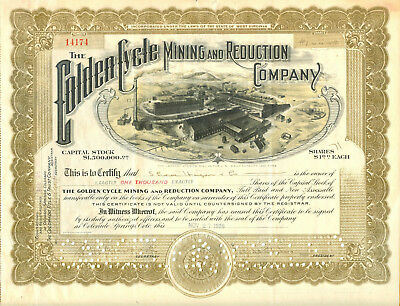 Golden Cycle Mining and Reduction Company 1928