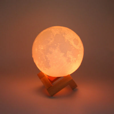 3D Moon Lamp Night Light  USB LED Moonlight Gift Touch Sensor Color Changing