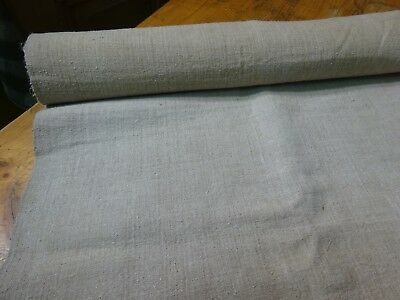 A Homespun Linen Hemp/Flax Yardage 4.5 Yards x 26'' Plain  #9597