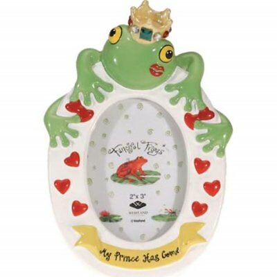 "WL SS-WL-11947 My Frog Prince Has Come Kissing Frog Picture Frame, 2"" x 3"""