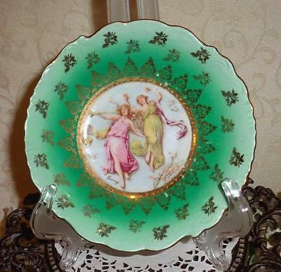 "CARLSBAD VICTORIA DECORATIVE BERRY BOWL ""Vintage Austria Hand Painted"""