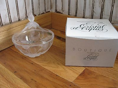 "Cristal d'Arques Crystal Lucia Genuine Lead Crystal 6"" Covered Candy Dish Bowl"