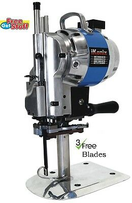 "iKonix Fabric Cloth Cutter KC-3 Blue 10"" cutting machine + 3 free Eastman Blades"
