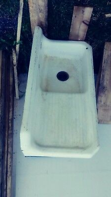 Vintage Antique 1936 Cast Iron White Porcelain Enamel Farm House Sink.....