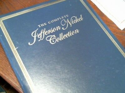 US Jefferson Nickel Collection, Complete 1938-2013, in display book
