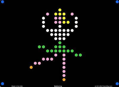 Lite Brite Refill: Little Miss 12 sheets for Create With Light / Magic Screen -