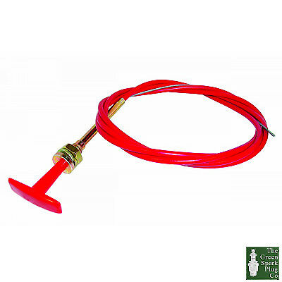 1x RED 'T' PULL CABLE 6ft (1.8 Mtrs) (TPK001)