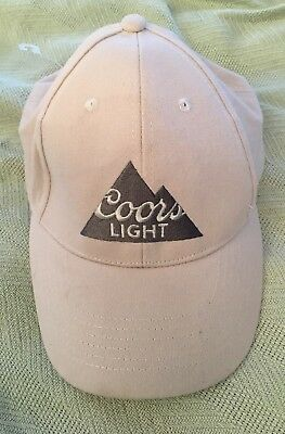 New Coors Light Embroidered Logo Beige Ball Cap