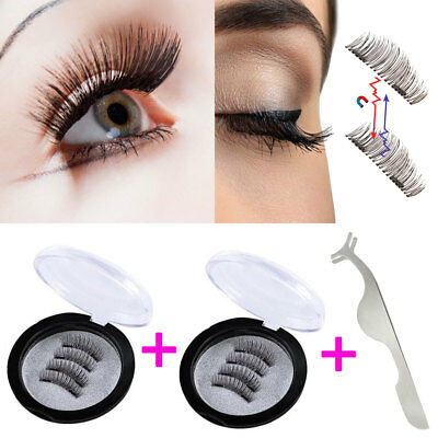 8Pcs Dual Magnetic False Eyelashes To Cover The Entire Eyelids Natural Look