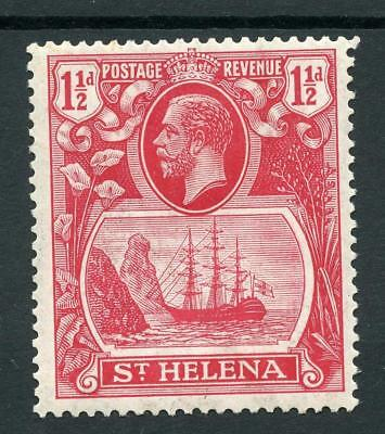 St Helena 1922-37 1½d Deep carmine -red SG99f MM - toned gum