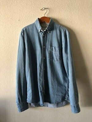 078190a16b2 ACNE STUDIOS ISHERWOOD Denim Shirt US XS Mens -  145.00
