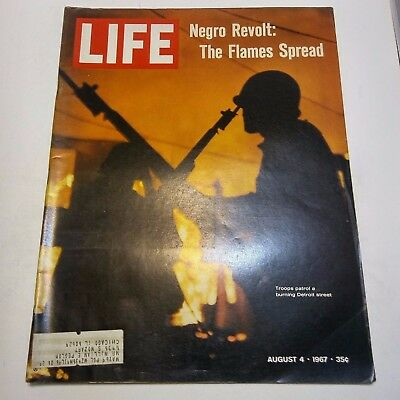 Life Magazine August 4 1967 Negro Revolt The Flames Spread Detroit Michigan