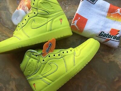 Jordan 1 Gatorade Lemon Lime RARE/very limited - SOLD OUT Size 8 ORDER CONFIRMED
