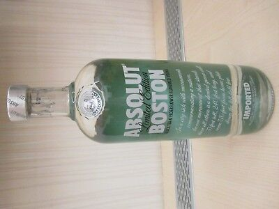 ABSOLUT VODKA BOSTON 1000 ML 1 LITER mit FLASCHE UNCUT