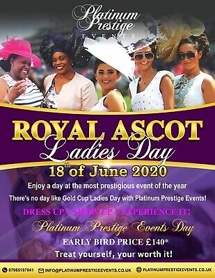 Royal Ascot Ladies Day All Inclusive Experience Trip 18th June 2020 from  London