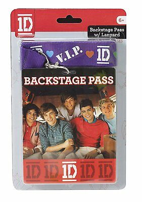 NISP 1D One Direction Backstage 2 Passes Lanyard Necklace Sealed VIP 7358 TOY