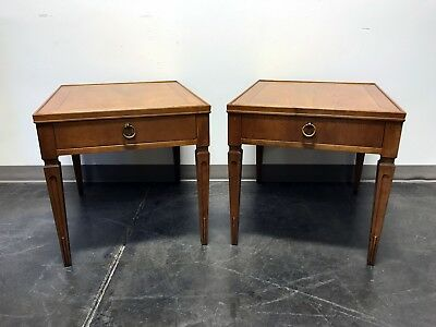 BAKER FURNITURE Mid Century Neo-Classical End Side Tables - Pair