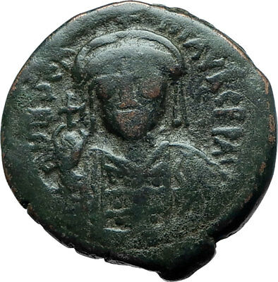 JUSTINIAN I the GREAT Constantinople Authentic Ancient Byzantine Coin i66076