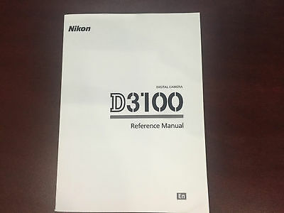 Nikon D3100 Digital Camera Reference Manual Guide Book Brand New. Never Used