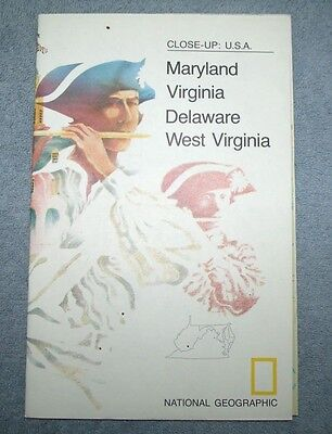 National Geographic MAP Close Up #10  North Eastern Maryland W Virginia USA 1976