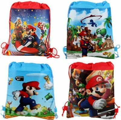 Wholesale Super Mario Mix Cartoon Boy's Drawstring Backpack School Backpacks