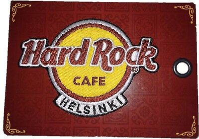 Hard Rock Cafe Helsinki Logo Patch Badge - New on Card