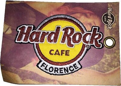Hard Rock Cafe Florence Logo Patch Badge - New on Card