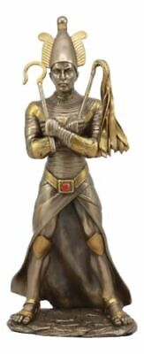 Ancient Egyptian God Osiris Holding Crook and Flail Statue Figurine Resin Made