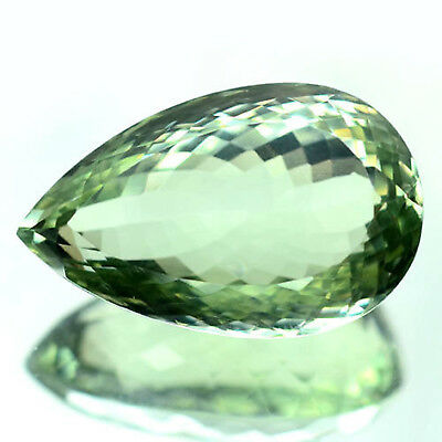 39.17 Ct Aaa! Natural! Light Green Uruguay Amethyst Pear
