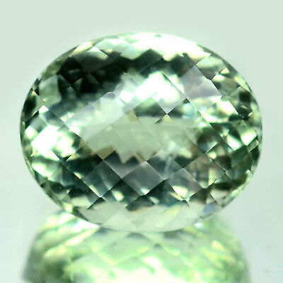 28.21 Ct Aaa! Natural! Light Green Uruguay Amethyst Oval