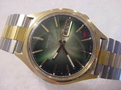 Vintage GOLD PL large antique Art Deco SEIKO AUTOMATIC mens watch  . NR