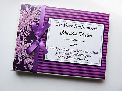 Personalised Plum Purple Retirement/wedding/gift Guest Book - Any Colour