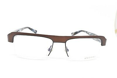 a6695f62fc1 ALAIN MIKLI 1051 0200 Brown Horn Eyeglasses New Authentic 53-17-140 Nc