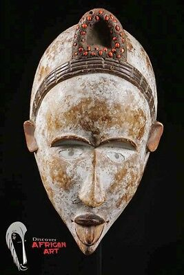 "Bakongo Mask 19"" on Custom Base - DR Congo"