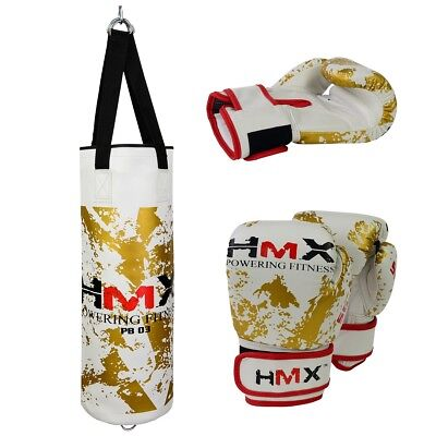 HMX Unfilled Kids Punching Bag Junior Boxing Gloves Children Punch Training New
