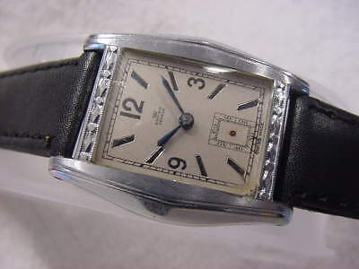 Vintage large antique pre 1920 Art Deco EMPIRE ENGRAVED mens watch . NR
