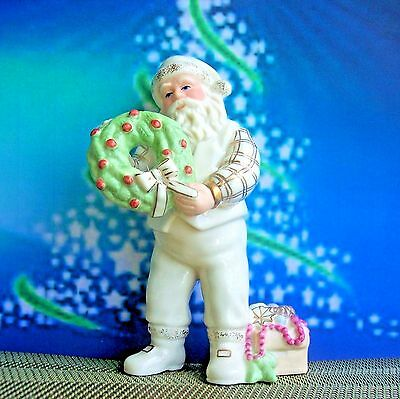 RARE LENOX Santa's Christmas Touch Figurine from the Treasured Santa Collection