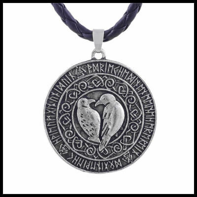 Raven Talisman Necklace Nordic Amulet Pendant  FREE PRIORITY POST